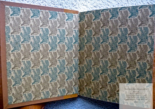 The Very Rich Hours of Le Boulvé, Rampant Lions Press, End Papers