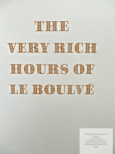 The Very Rich Hours of Le Boulvé, Rampant Lions Press, Title Page