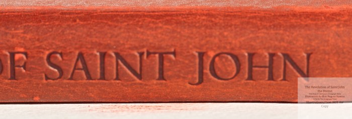 The Revelation of Saint John the Divine, Gregynog Press, Macro of Spine