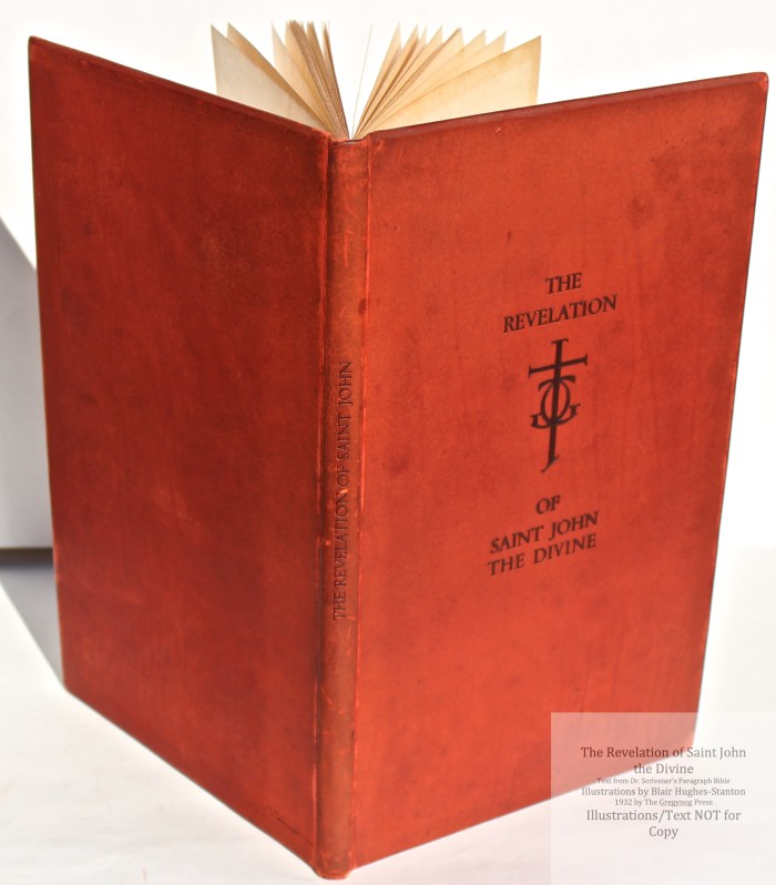The Revelation of Saint John the Divine, Gregynog Press, Spine and Cover