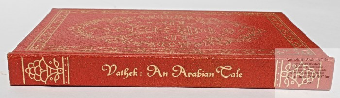 Vathek, An Arabian Tale,  Limited Editions Club, Spine