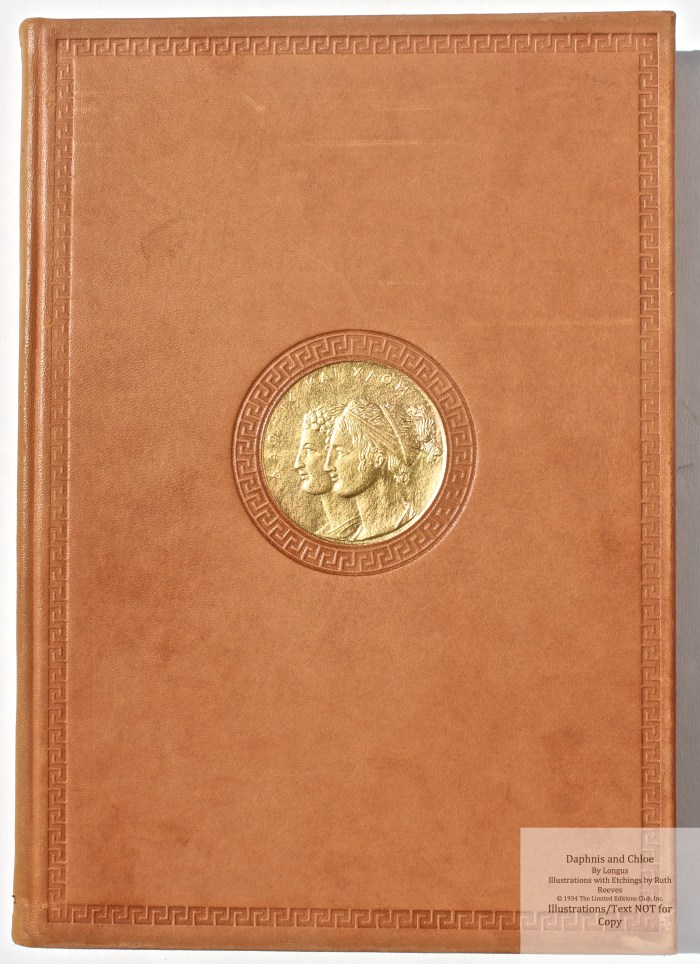 Daphnis and Chloe, Limited Editions Club, Front Cover