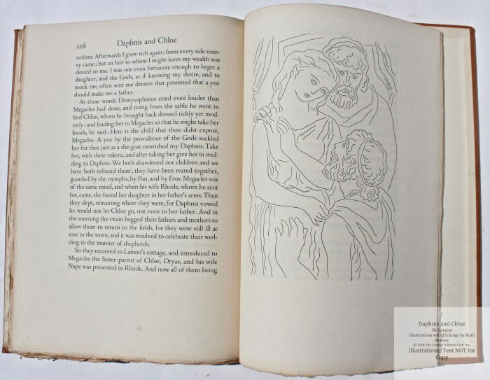 Daphnis and Chloe, Limited Editions Club, Sample Illustration #8 with text