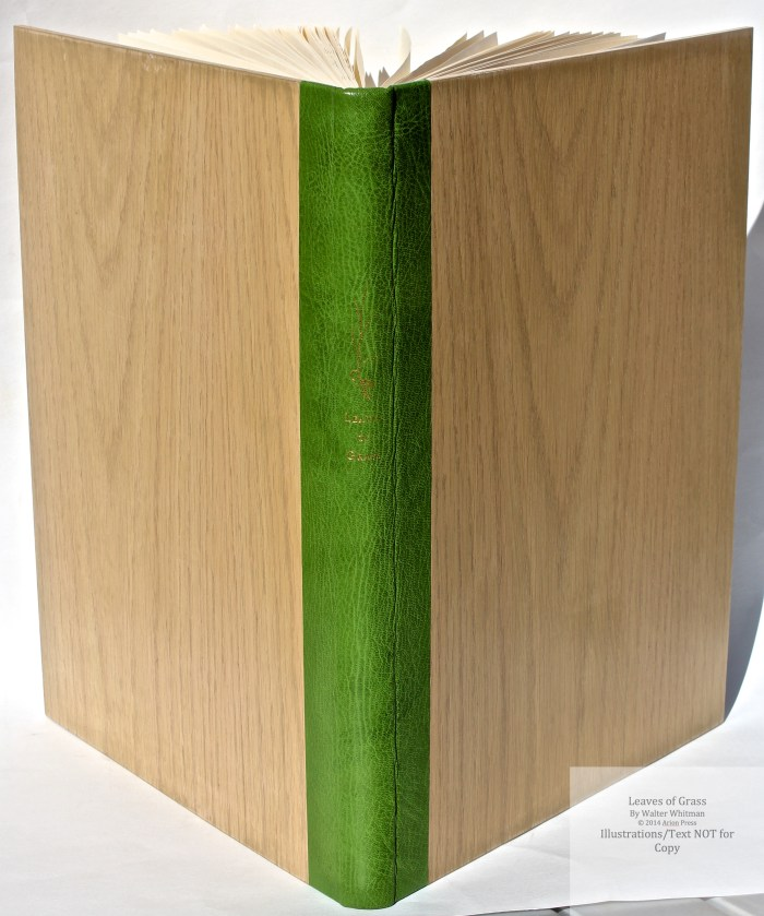 Leaves of Grass, Arion Press, Spine and Covers