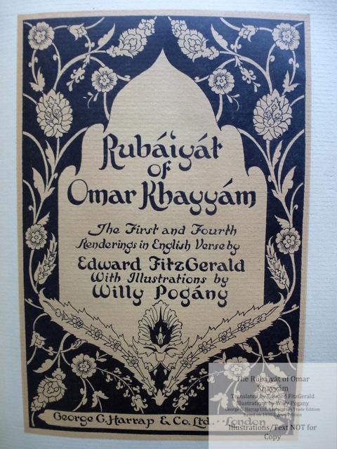 The Rubáiyát of Omar Khayyám, George G. Harrap & Co Ltd., Title Page #2