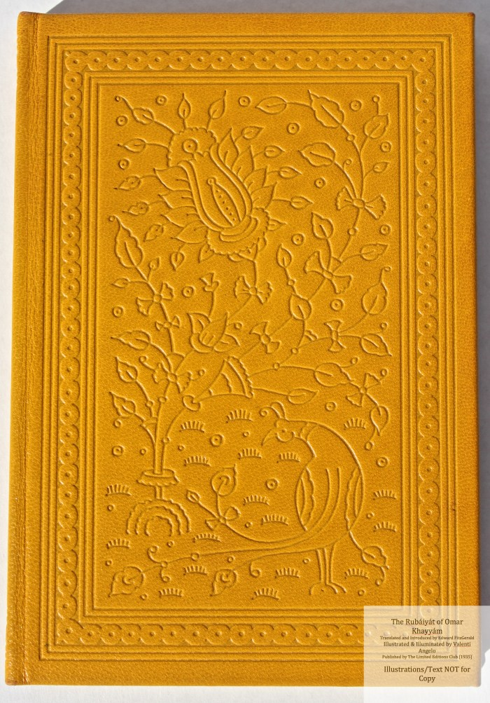 The Rubáiyát of Omar Khayyám, Limited Editions Club, Cover