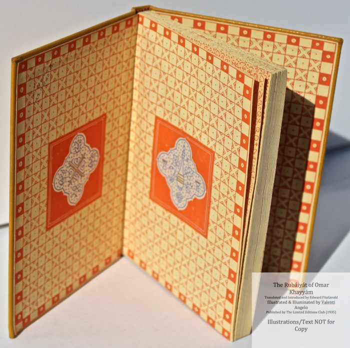 The Rubáiyát of Omar Khayyám, Limited Editions Club, End Papers