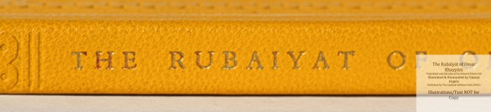The Rubáiyát of Omar Khayyám, Limited Editions Club, Macro of Spine