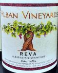 2008 Alban Vineyards Syrah Reva Alban Estate Vineyard