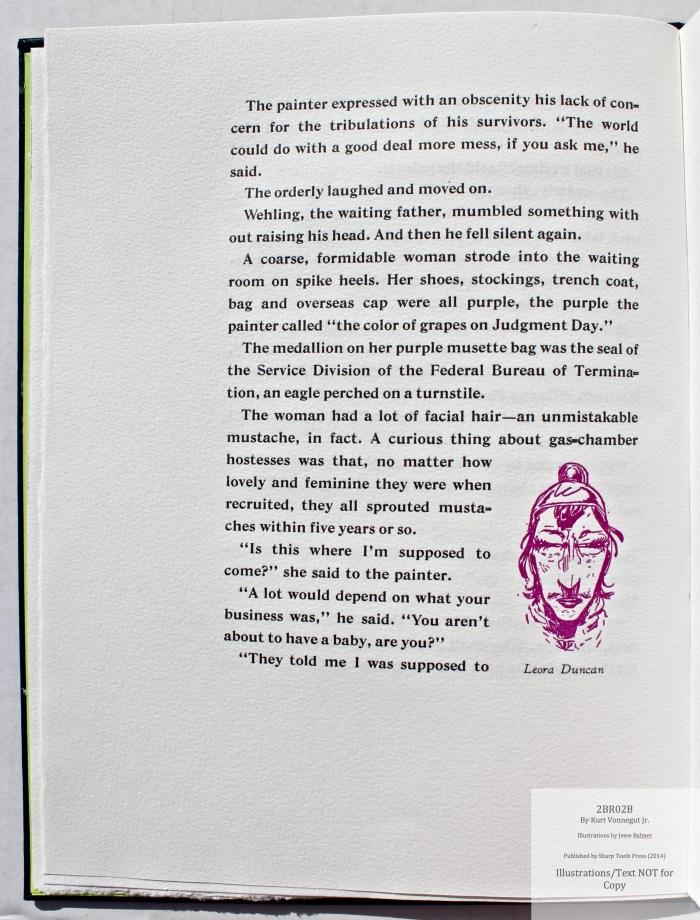 2BR02B, Sharp Teeth Press, Sample Illustration #2 with text