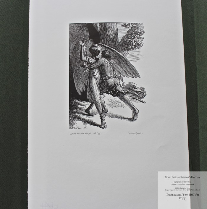 Simon Brett, an Engraver's Progress, Signed and numbered strike of the commissioned frontispiece for the book