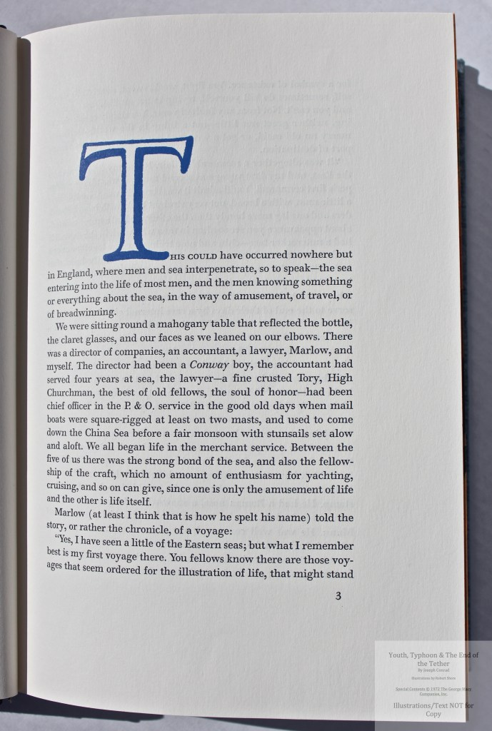 Youth, Typhoon, The End of the Tether, Limited Editions Club, Sample text #2