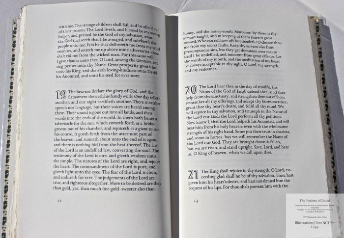 The Psalms of David, Rampant Lions Press, Sample Text #2
