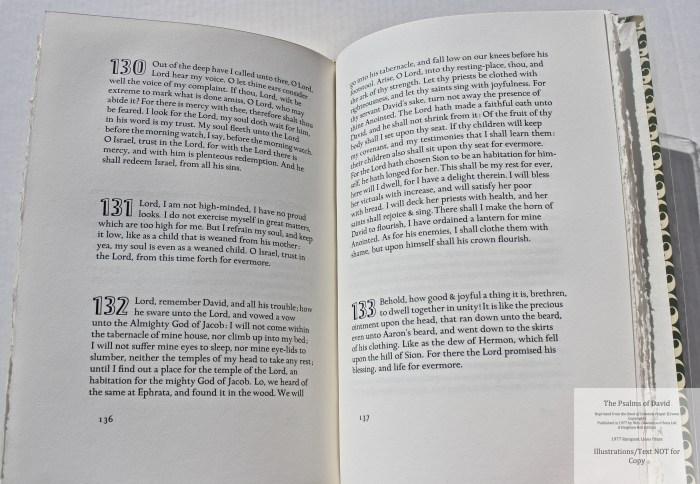 The Psalms of David, Rampant Lions Press, Sample Text #5
