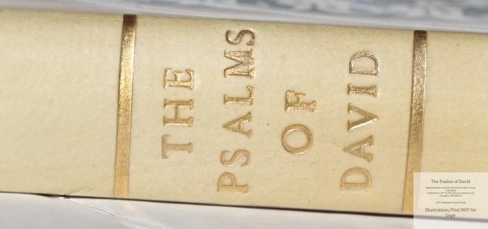 The Psalms of David, Rampant Lions Press, Macro of Spine