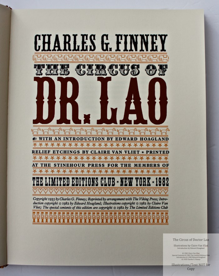 The Circus of Doctor Lao, Limited Editions Club, Title Page