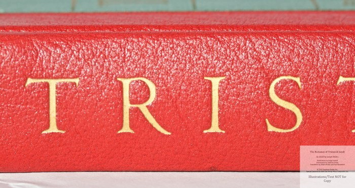 The Romance of Tristan and Iseult, Limited Editions Club, Macro of Spine