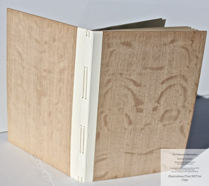 The Unknown Masterpiece, Rampant Lions Press, Cover and Spine