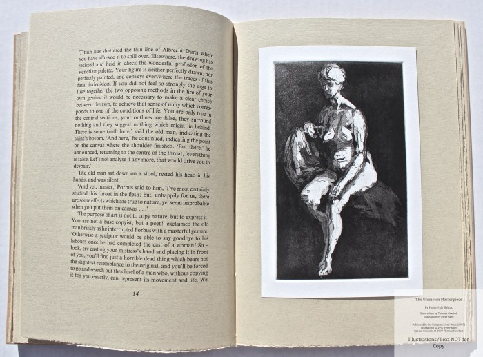 The Unknown Masterpiece, Rampant Lions Press, Sample Illustration #1 with Text