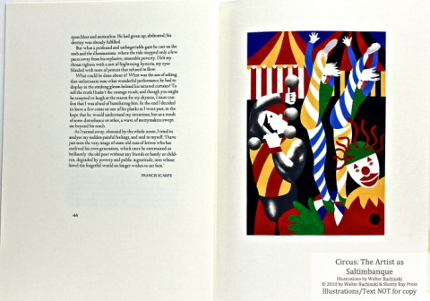 CIRCUS: The Artist as Saltimbanque, Shanty Bay Press, pochoir