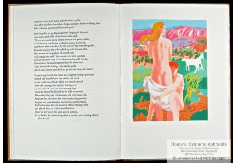 Homeric Hymn to Aphrodite, Shanty Bay Press, Seduction Pochoir