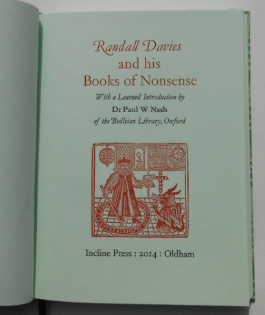 Randall Davies and his Books of Nonsense, Incline Press