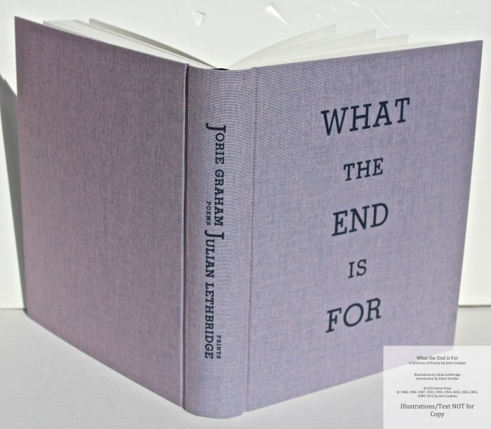What the End is For, Arion Press, Cover and Spine