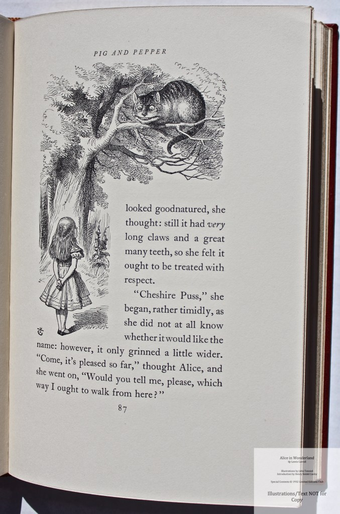Alice in Wonderland and Through the Looking Glass, Limited Editions Club, Sample Illustration #5 with Text