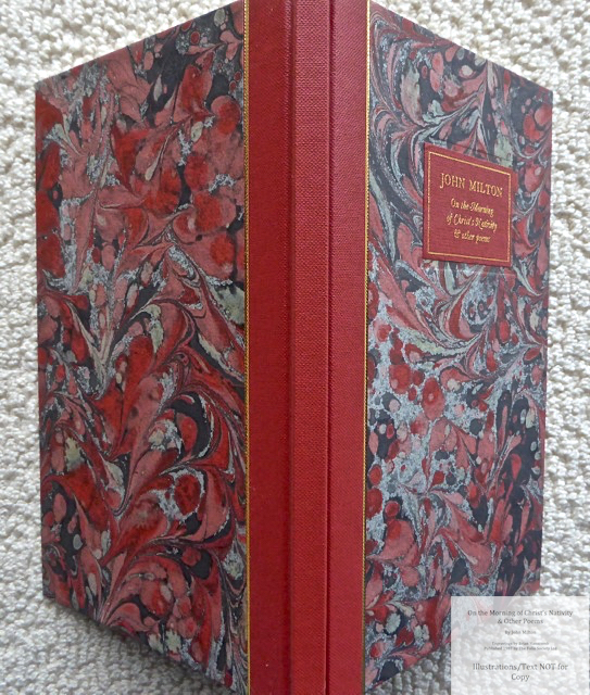 On the Morning of Christ's Nativity & other poems, The Folio Society, Spine and Covers