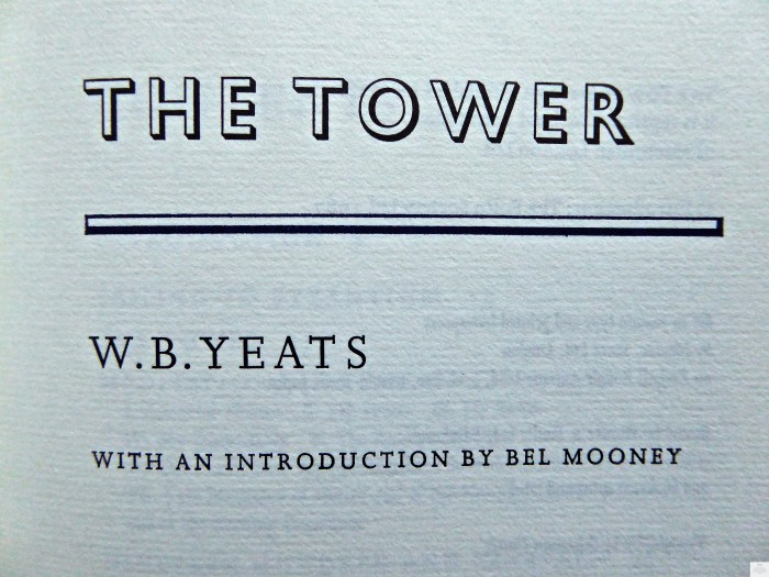 The Tower, The Folio Society, Title Page