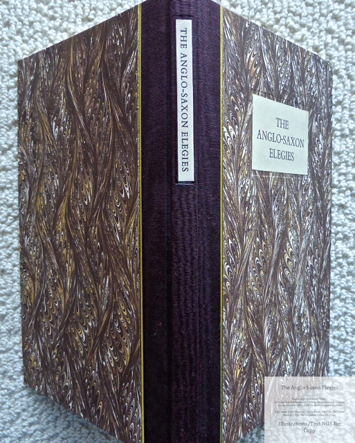 The Anglo-Saxon Elegies, The Folio Society, Spine and Covers