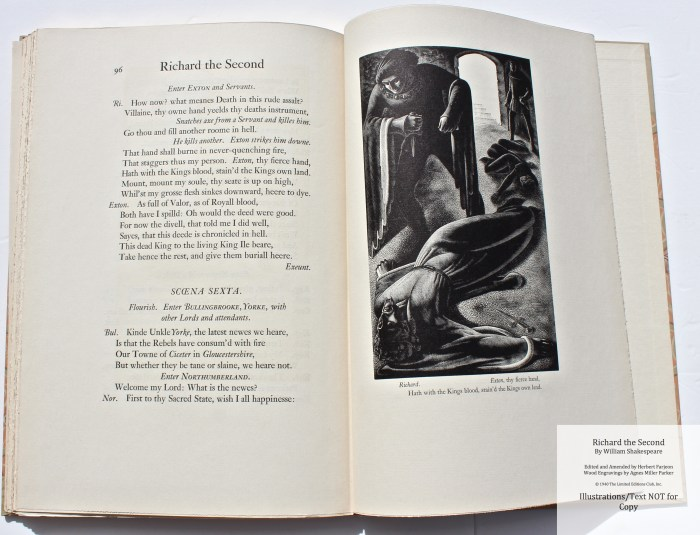Richard the Second, Limited Editions Club, Sample Illustration #5 with Text