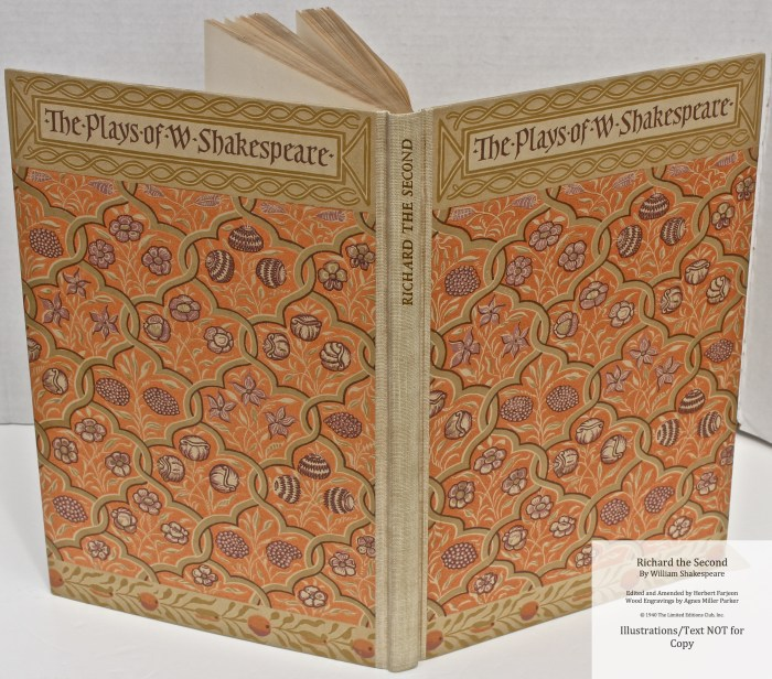 Richard the Second, Limited Editions Club, Spine and Covers
