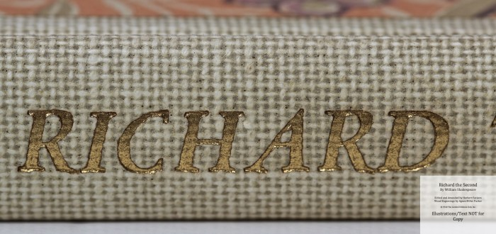 Richard the Second, Limited Editions Club, Macro of Spine