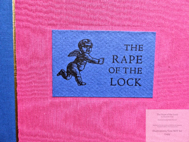 The Rape of the Lock, The Folio Society, Macro of Spine