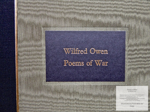 Poems of War, The Folio Society, Macro of Cover