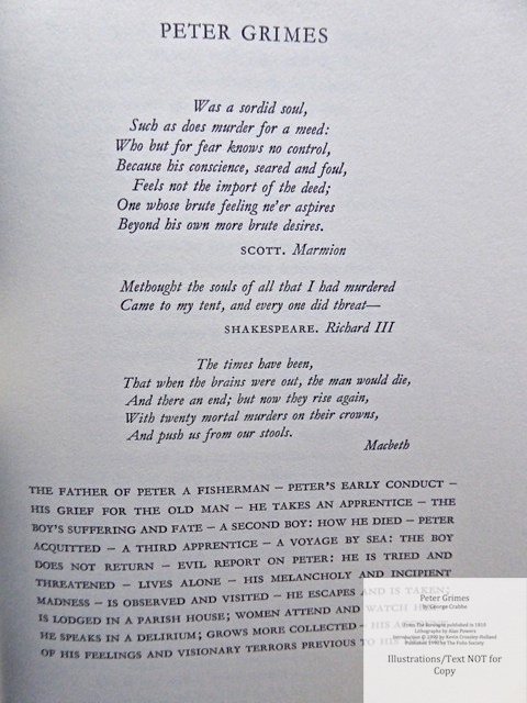 Peter Grimes, The Folio Society, Sample Text #4