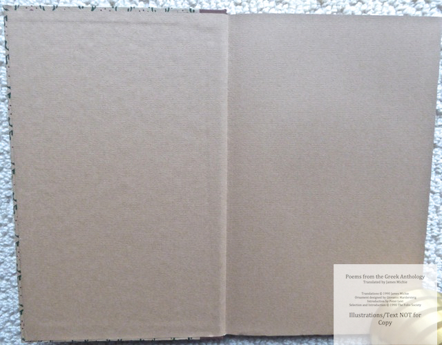 The Greek Anthology, The Folio Society, Endpapers