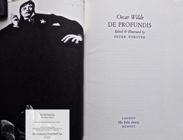 De Profundis, The Folio Society, Title Page and Frontispiece