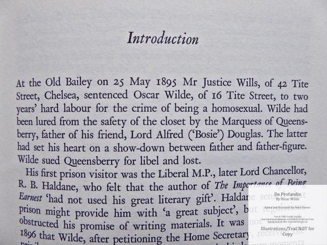 De Profundis, The Folio Society, Sample Text #1
