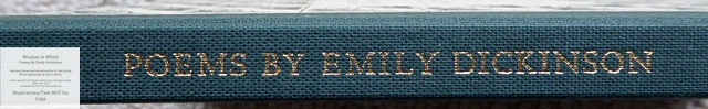 Woman In White, Poems by Emily Dickinson, The Folio Society, Spine Macro