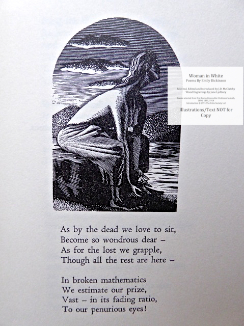 Woman In White, Poems by Emily Dickinson, The Folio Society, Sample Illustration #4 with Text
