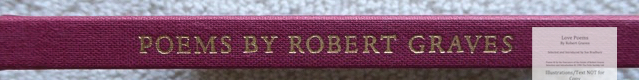 Love Poems by Robert Graves, The Folio Society, Spine Macro