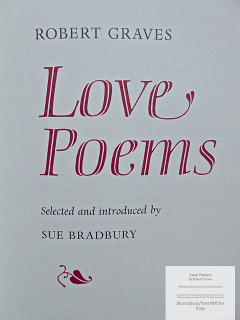 Love Poems by Robert Graves, The Folio Society, Title Page