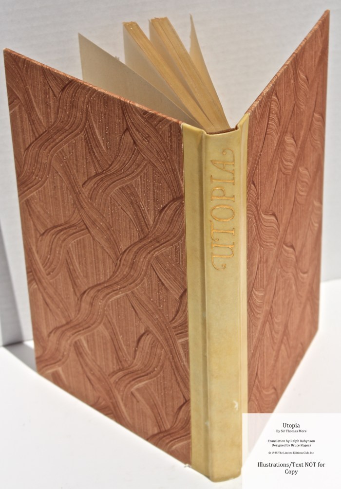 Utopia, Limited Editions Club, Spine and Covers