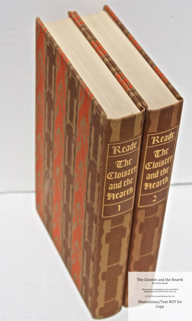 The Cloister and the Hearth, Limited Editions Club, Spines and Cover