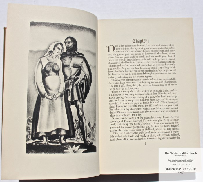 The Cloister and the Hearth, Limited Editions Club, Sample Illustration #1 with Text