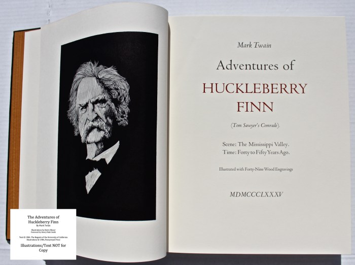The Adventures of Huckleberry Finn, Pennyroyal Press, Frontispiece and Title Page