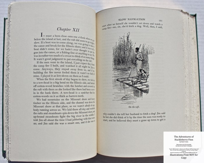 The Adventures of Huckleberry Finn, Limited Editions Club (1933), Sample Illustration #3 with Text