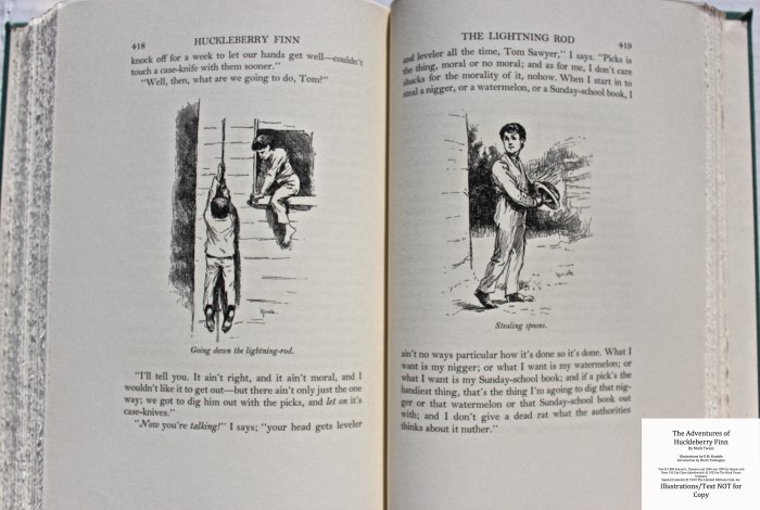 The Adventures of Huckleberry Finn, Limited Editions Club (1933), Sample Illustrations #7 with Text